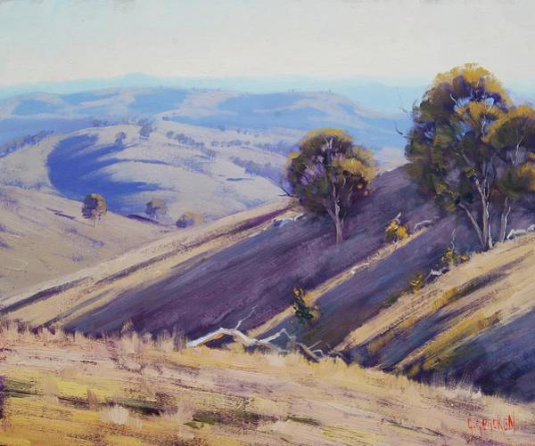 Wall Art - Painting - Summer Hillside, Mudgee by Graham Gercken