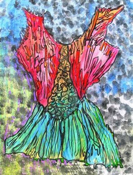 Wall Art - Painting - Summer Ice Skate Dress by Donna Zoll