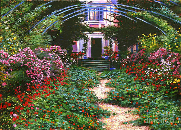 Giverny Painting - Summer In Giverny by David Lloyd Glover