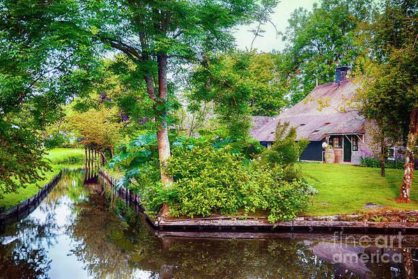 Photograph - summer in old dutch village, Giethoorn by Ariadna De Raadt