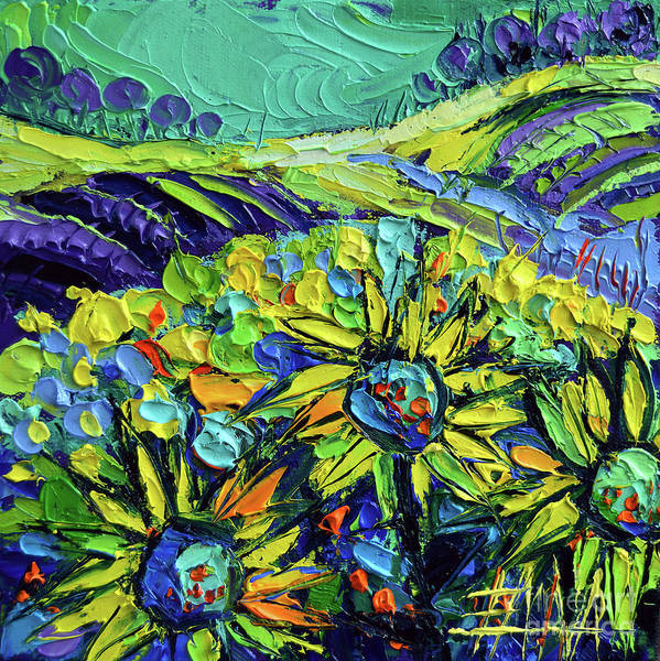 Wall Art - Painting - Summer In Provence by Mona Edulesco
