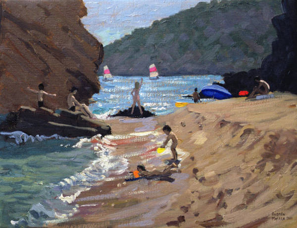 Rocky Coast Painting - Summer In Spain by Andrew Macara