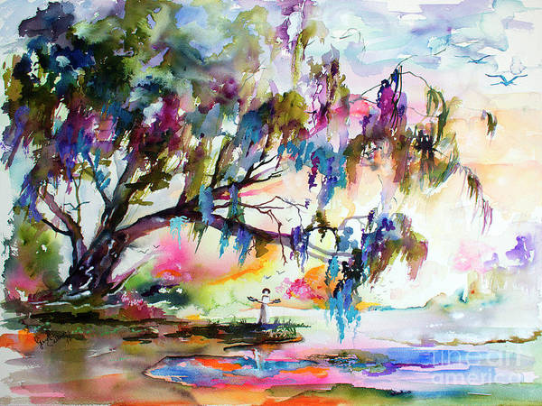 Painting - Summer In The Garden Of Good And Evil Watercolor by Ginette Callaway