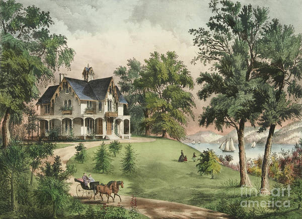 Drive-ins Painting - Summer In The Highlands, 1867 by Currier and Ives
