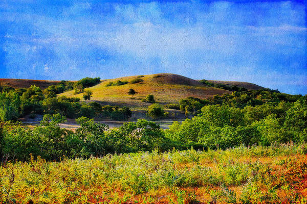 Photograph - Summer Kansas Flint Hills Two by Anna Louise