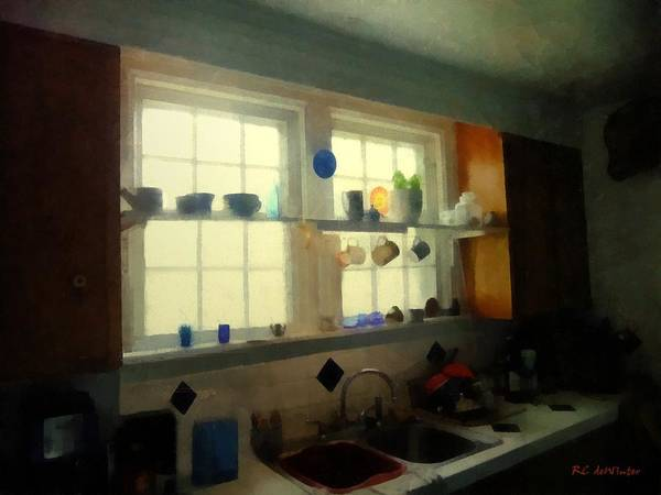 Painting - Summer Light In The Kitchen by RC DeWinter