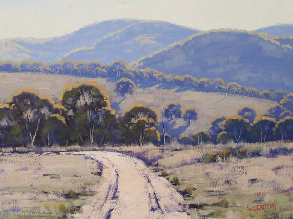 Wall Art - Painting - Summer Light Lithgow by Graham Gercken
