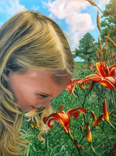 Painting - Summer Lilies - Painting by Ashley Koebrick Schmidt