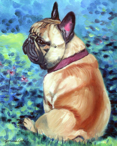 French Bulldog Painting - Summer by Lyn Cook