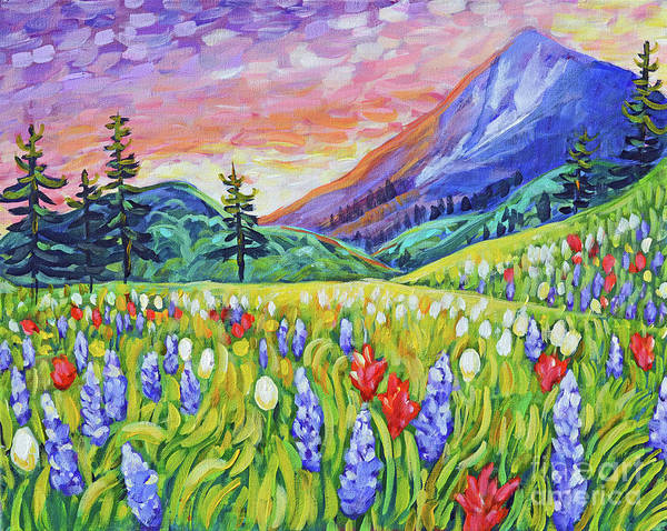 Alpine Meadow Painting - Summer Meadow by Harriet Peck Taylor