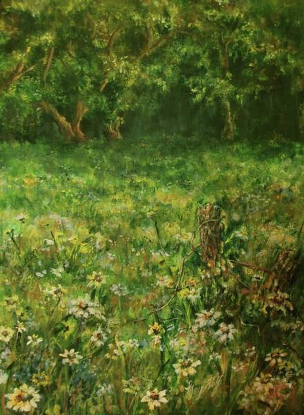Mary Wolf Painting - Summer Meadow by Mary Wolf
