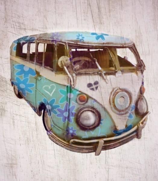 Hippy Digital Art - Summer Memories by Sara Sutton