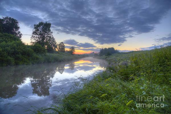 Birch River Photograph - Summer Morning At 03.37 by Veikko Suikkanen