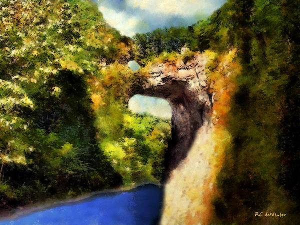Painting - Summer Morning, Natural Bridge by RC DeWinter