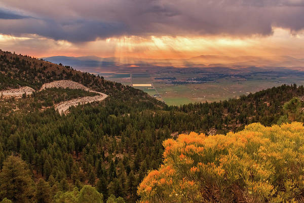 Lightroom Photograph - Summer Morning Rays From Kingsbury Grade by Mike Herron