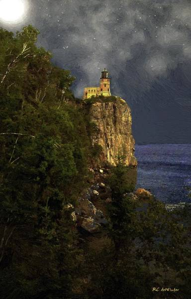 Painting - Summer Night At Split Rock by RC DeWinter
