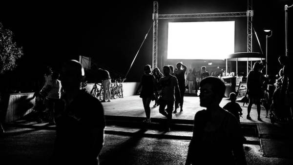 Faceless Photograph - Summer Night - Lignano Sabbiadoro, Italy - Black And White Street Photography by Giuseppe Milo