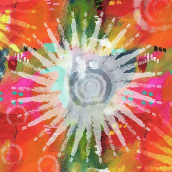 Bright Colorful Mixed Media - Summer Of Love- Art By Linda Woods by Linda Woods