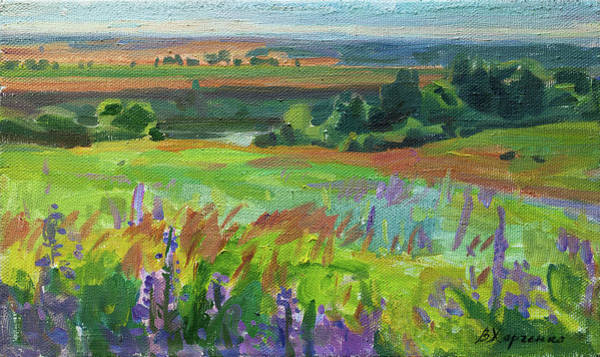 Wall Art - Painting - Summer On The Ugra by Victoria Kharchenko