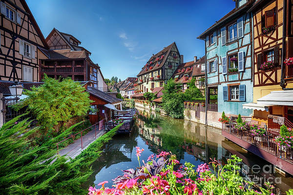 Photograph - summer panorama in Colmar, named  by Ariadna De Raadt