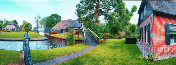 Photograph - Summer Panorama Of  Dutch Village by Ariadna De Raadt