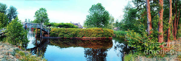 Photograph - Summer Panorama Of  In Old Dutch Village by Ariadna De Raadt
