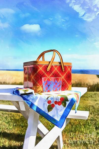 Picnic Basket Wall Art - Painting - Summer Picnic Acrylic by Edward Fielding
