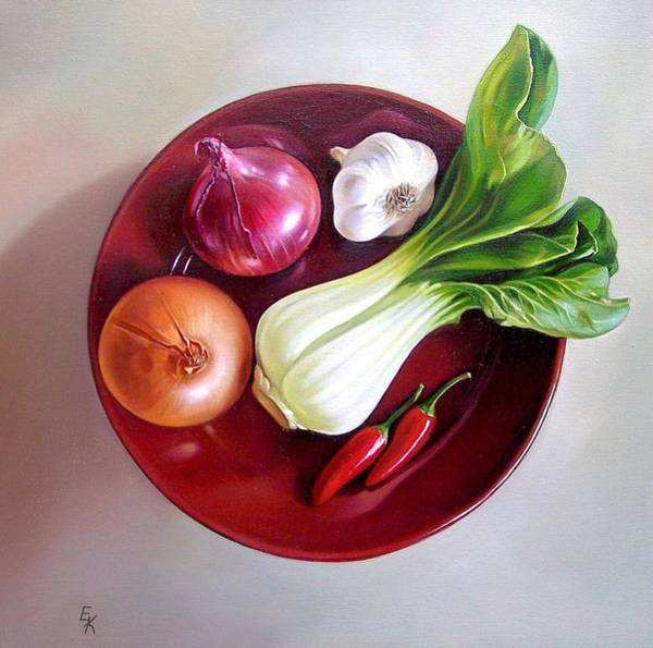 Painting - Summer Plate 2 by Elena Kolotusha