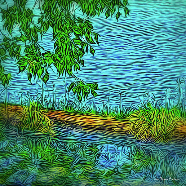 Digital Art - Summer Pond Reflections by Joel Bruce Wallach