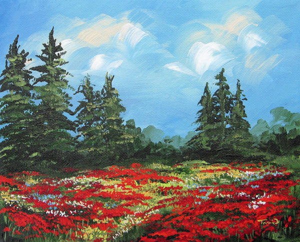 Flower Wall Art - Painting - Summer Poppies IIi by Torrie Smiley