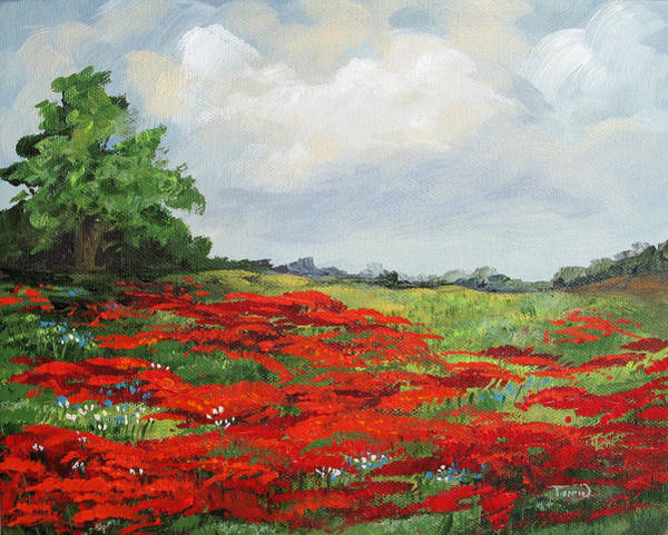 Flower Wall Art - Painting - Summer Poppies Iv by Torrie Smiley