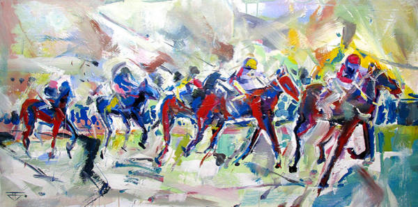 Painting - Summer Race by John Jr Gholson