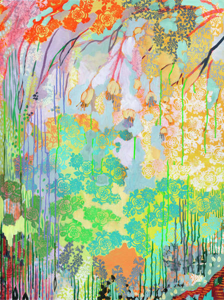 Foliage Wall Art - Painting - Summer Rain Part 2 by Jennifer Lommers