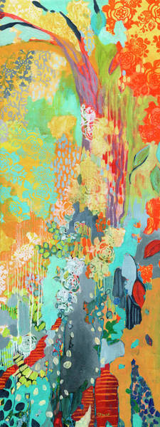 Triptych Wall Art - Painting - Summer Rain Part 3 by Jennifer Lommers