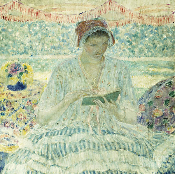 Wall Art - Painting - Summer Reading, 1902 by Frederick Carl Frieseke
