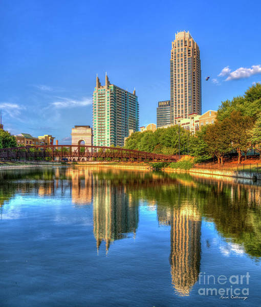 Photograph - Summer Reflections  Atlantic Station Atlanta Midtown Cityscape Art by Reid Callaway