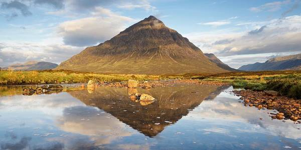 Photograph - Summer Reflections Of Stob Dearg by Stephen Taylor