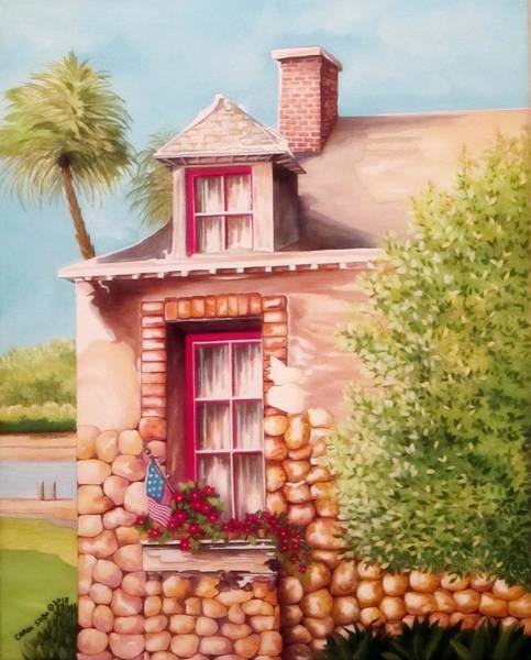 Wall Art - Painting - Summer Retreat by Carol Sabo