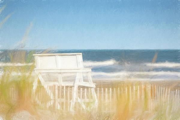 Harbor Scene Digital Art - Summer Retreat by Robert Barnes