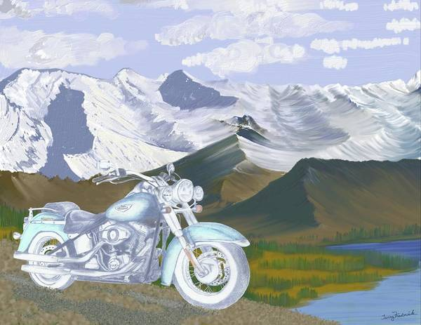 Drawing - Summer Ride by Terry Frederick