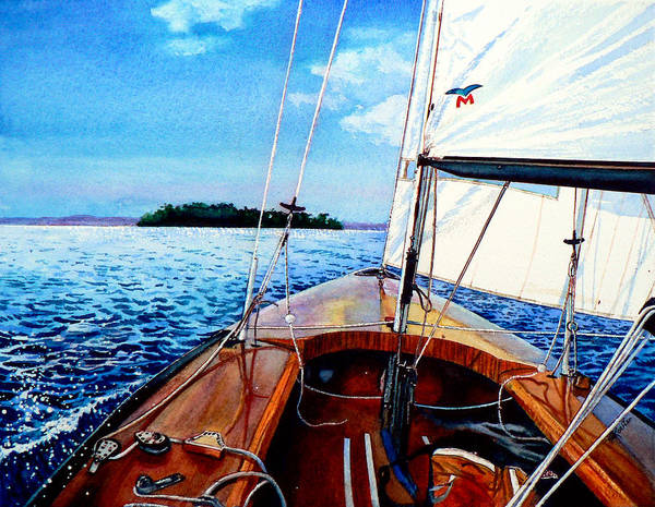 Relaxation Painting - Summer Sailing by Hanne Lore Koehler