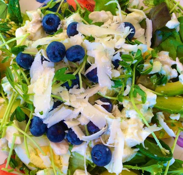 Photograph - Summer Salad With Blueberries by Polly Castor