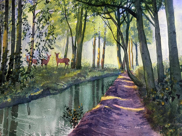 Painting - Summer Shade In Lowthorpe Wood by Glenn Marshall