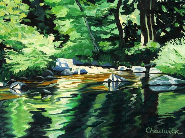 Wall Art - Painting - Summer Shadows by Phil Chadwick