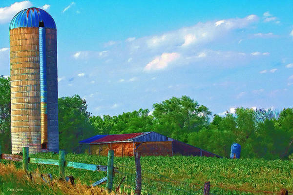 Photograph - Summer Silo And Hay Barn by Anna Louise