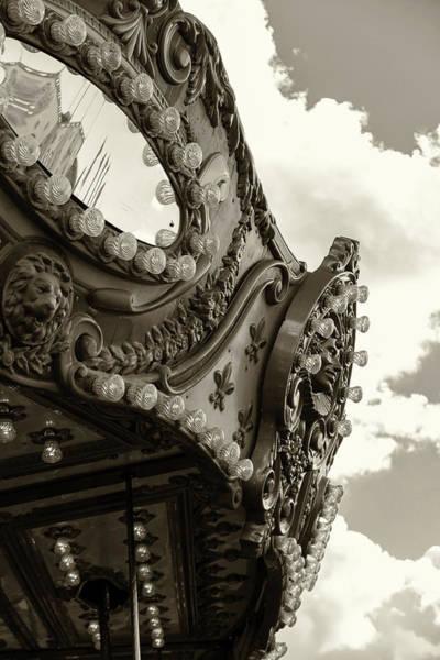 Summer Skies And Carousel Art Print