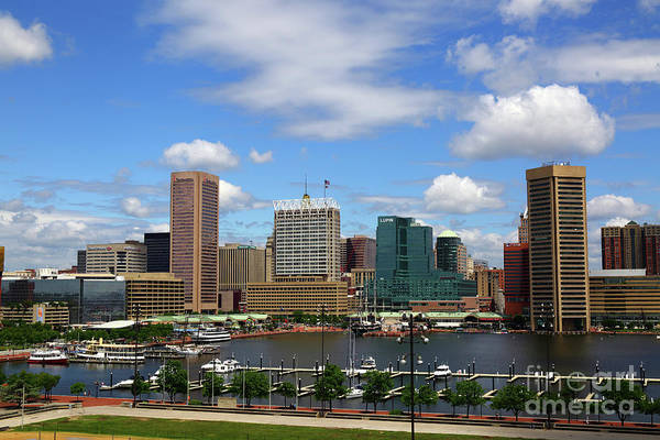Photograph - Summer Skies Over The Inner Harbor Baltimore by James Brunker