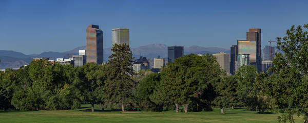 Wall Art - Photograph - Summer Skyline Of Downtown Denver Looking West Towards The Rocky by Bridget Calip