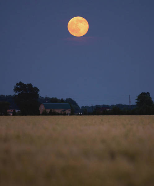 Moonrise Photograph - Summer Solstice Moonrise by Cale Best