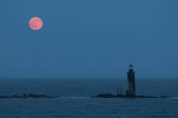 Photograph - Summer Solstice Strawberry Moon by Colin Chase